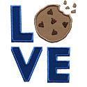 Love Lettering Cookie Applique Design