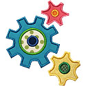 Mechanical Gears Applique Design
