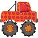 Monster Truck Applique Design