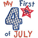 My First Fourth July Applique Design