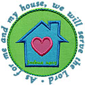 My House Serve Lord Applique Design