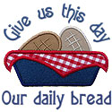 Our Daily Bread Applique Design