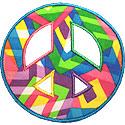 Peace Sign Applique Design