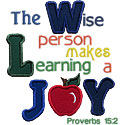 Proverbs15 Applique Design