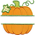 Pumpkin Name Plate Applique Design