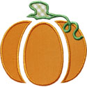 Pumpkin Pieces Applique Design