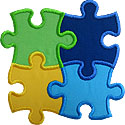 Puzzle 4 Piece Applique Design