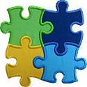 Puzzle 4 Piece Applique Design