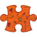Puzzle Piece Applique Design