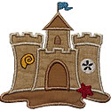 Sand Castle Applique Design