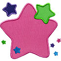 So Many Stars Applique Design
