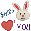 Some Bunny Loves You Applique Design