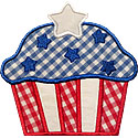 Star Cupcake Applique Design