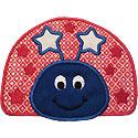 Stars Ladybug Applique Design