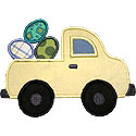 Truck Easter Eggs Applique Design