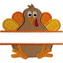 Turkey Name Plate Applique Design