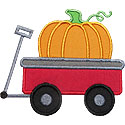 Wagon Pumpkin Applique Design