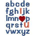 ABC I Love You Applique Design