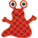 Alien Martian Applique Design