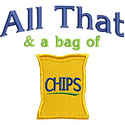 All That Bag Chips Applique Design