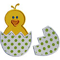 Baby Chick Broken Egg Applique Design