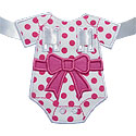 Baby Onsie Bow Banner Piece Applique Design