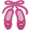Ballet Slippers Applique Design