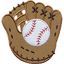 Baseball Mitt Glove Applique Design