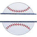 Baseball Name Plate Applique Design