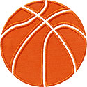 Basketball Pieces Applique Design
