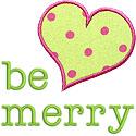 Be Merry Applique Design