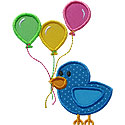 Bird Balloons Applique Design