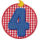 Birthday Number Patch Applique Design