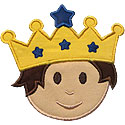 Boy Prince Head Applique Design