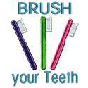 Brush Your Teeth Applique Design