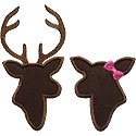 Buck Doe Deer Applique Design