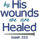 By His Wounds Verse Applique Design