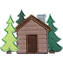 Cabin Woods Applique Design