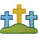 Calvary Cross Applique Design