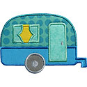Camper Trailer Applique Design
