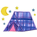 Camping Tent Applique Design