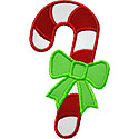 Candy Cane Ribbon Applique Design