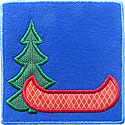 Canoe Woods Patch Applique Design