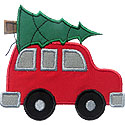 Car Christmas Tree Applique Design