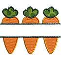 Carrot Name Plate Applique Design