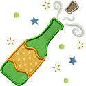 Champagne Cork Applique Design