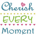 Cherish Moment Applique Design