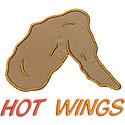 Chicken Hot Wing Applique Design