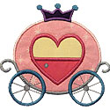 Cinderella Carriage Applique Design