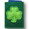St Patricks Clover Gift Card Applique Design